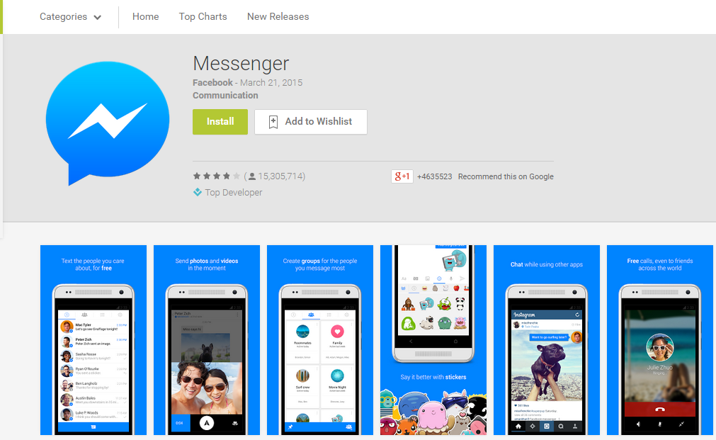 how to search in facebook messenger app